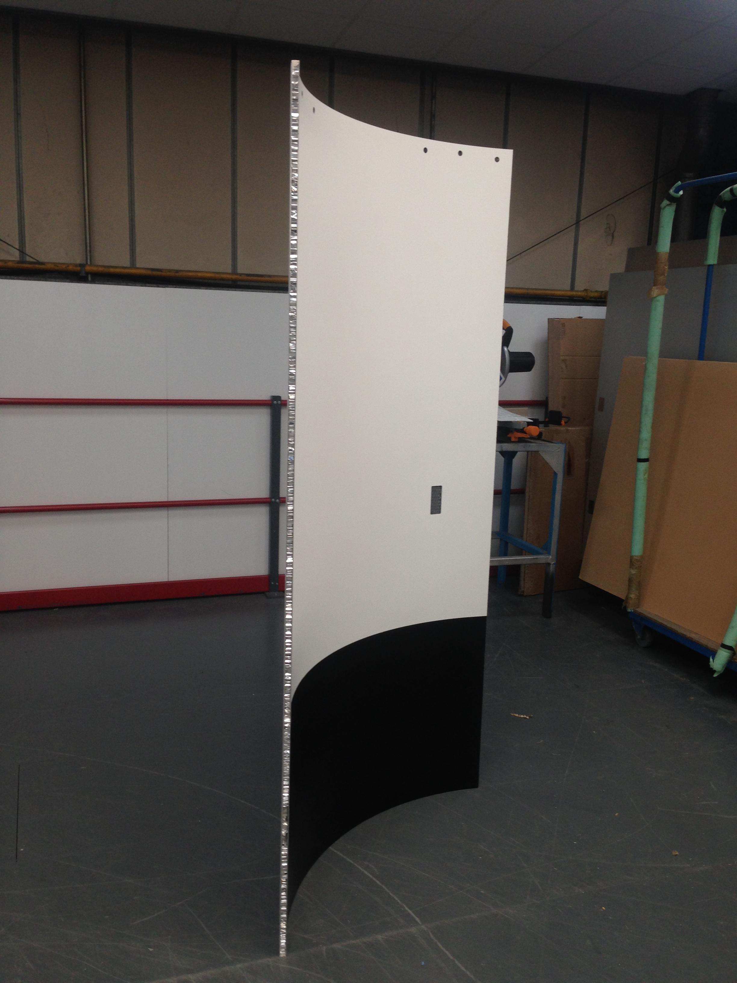 Universal Accessible Toilet (UAT) Module door in production