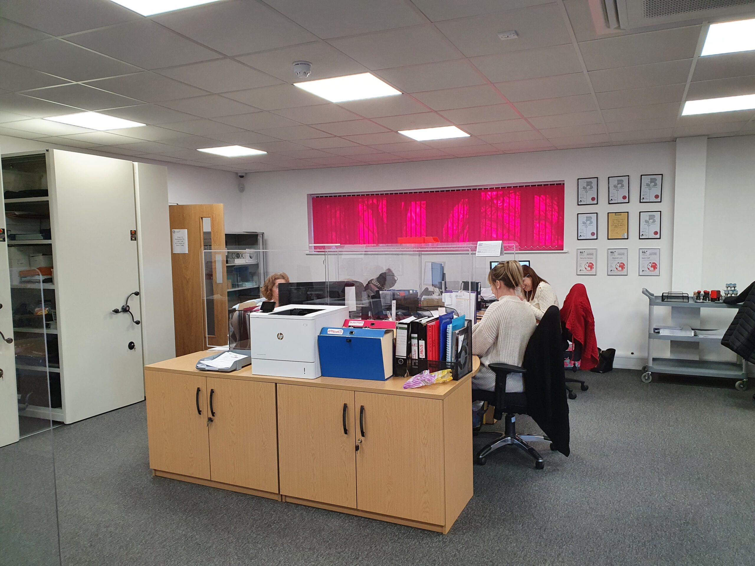 Cambridgeshire Chambers of Commerce using BCP's protective desk screens