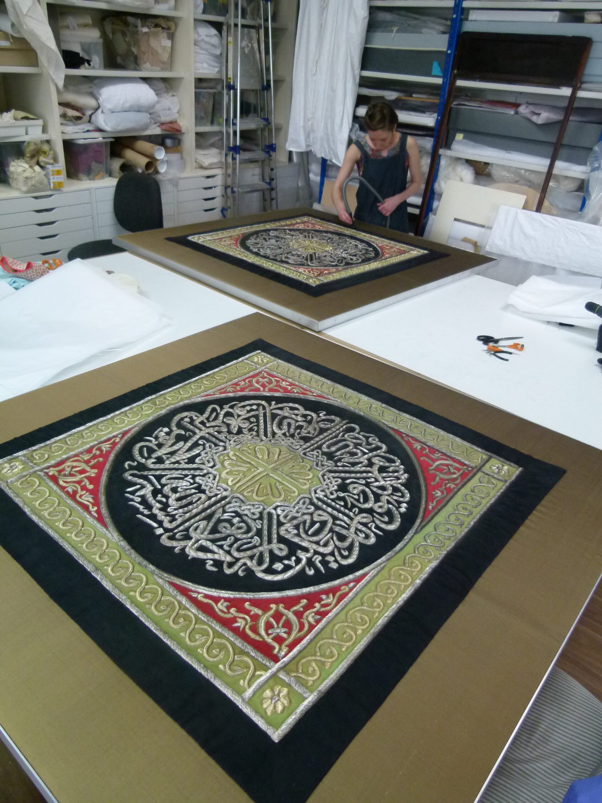 Conservation mounting using BCP's composite panels - Zenzie Tinker Conservation